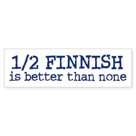 Half Finnish Bumper Sticker