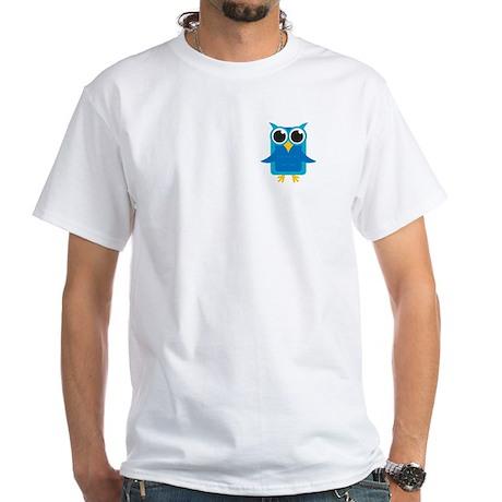 Blue Owl White T-Shirt