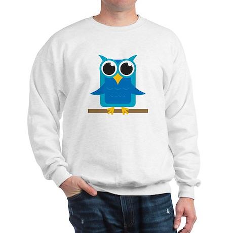 Blue Owl on Branch Sweatshirt