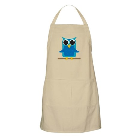 Blue Owl on Branch BBQ Apron