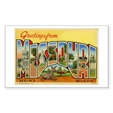 MISSOURI MO Rectangle Decal