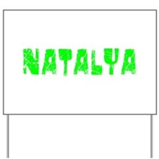 Natalya Faded (Green) Yard Sign