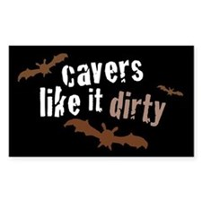 Cavers Like it Dirty Rectangle Decal