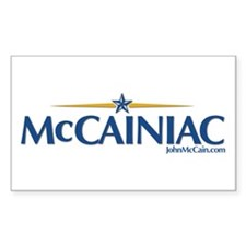 McCainiac Rectangle Decal