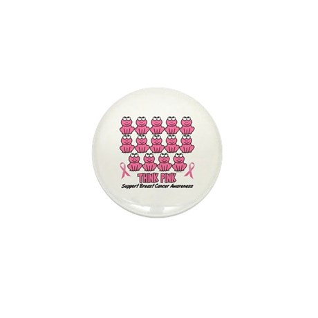 Pink Frogs 3 Mini Button (10 pack)