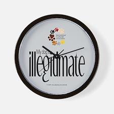 Illegitimate Dog Wall Clock