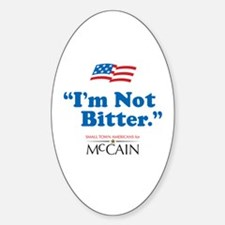 Small Town American for McCain Oval Decal