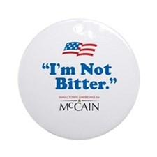 Small Town American for McCain Ornament (Round)
