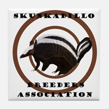 SkunkaDillo Tile Coaster