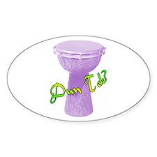 Funky Dun Tek Doumbek Oval Stickers