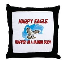 Harpy Eagle trapped in a human body Throw Pillow