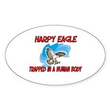 Harpy Eagle trapped in a human body Oval Decal