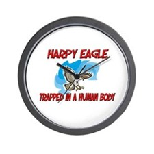 Harpy Eagle trapped in a human body Wall Clock