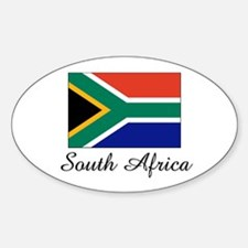 South Africa Flag Oval Decal