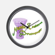 Funky Middle Eastern Drummer Wall Clock