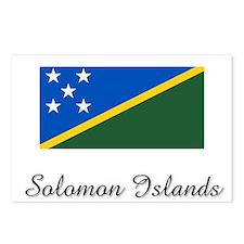 Solomon Islands Flag Postcards (Package of 8)