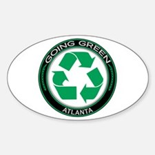 Going Green Atlanta Recycle Oval Decal