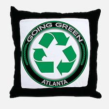 Going Green Atlanta Recycle Throw Pillow