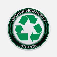 Going Green Atlanta Recycle Ornament (Round)