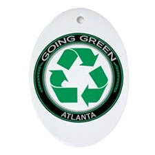 Going Green Atlanta Recycle Oval Ornament