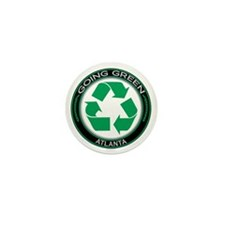 Going Green Atlanta Recycle Mini Button