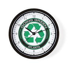 Going Green Atlanta Recycle Wall Clock