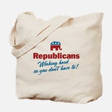 Republicans Working Hard Tote Bag