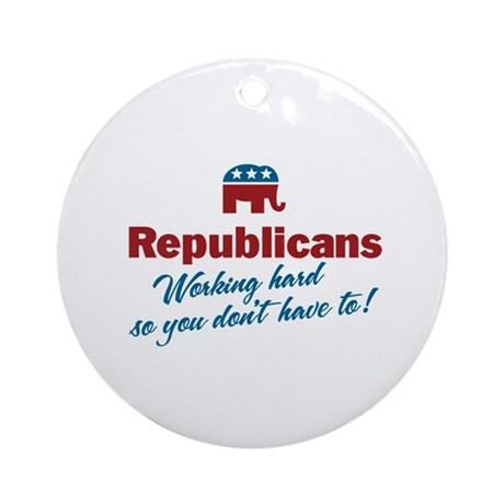 Republicans Working Hard Ornament (Round)