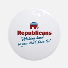 Republicans Working Hard Ornament (Round)