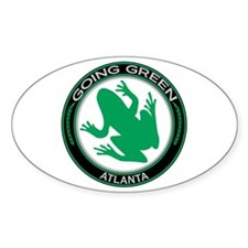 Going Green Atlanta Frog Oval Decal