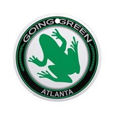 Going Green Atlanta Frog Ornament (Round)