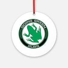 Going Green Atlanta Frog Ornament (Round)