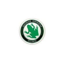 Going Green Atlanta Frog Mini Button