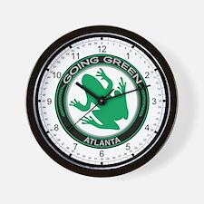 Going Green Atlanta Frog Wall Clock