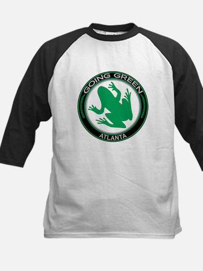 Going Green Atlanta Frog Kids Baseball Jersey
