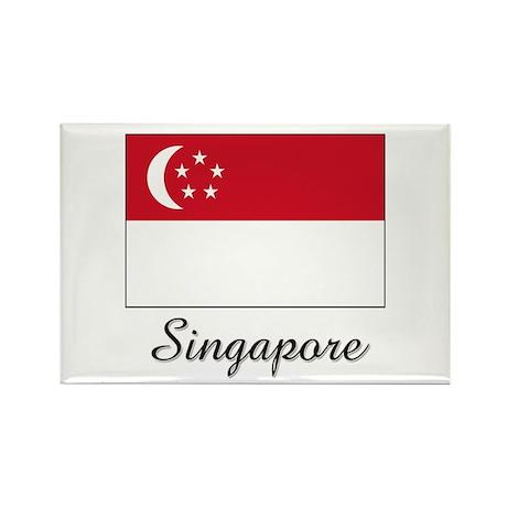 Singapore Flag Rectangle Magnet