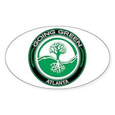 Going Green Atlanta Tree Oval Decal