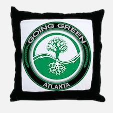 Going Green Atlanta Tree Throw Pillow