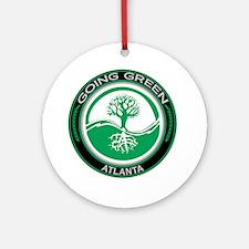 Going Green Atlanta Tree Ornament (Round)