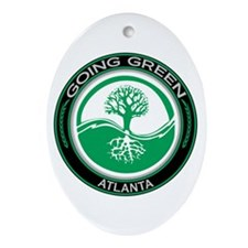 Going Green Atlanta Tree Oval Ornament