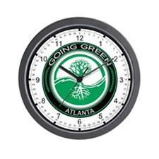 Going Green Atlanta Tree Wall Clock