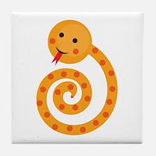Orange Snake Tile Coaster