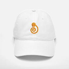 Orange Snake Baseball Baseball Cap