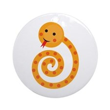 Orange Snake Ornament (Round)