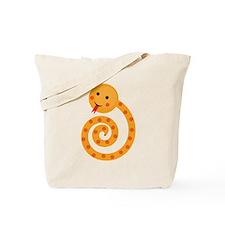 Orange Snake Tote Bag