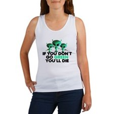 Go Green slogan Women's Tank Top