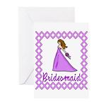 Lilac Bridesmaid Greeting Cards (Pk of 10)