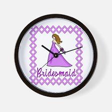 Lilac Bridesmaid Wall Clock