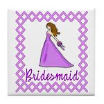 Lilac Bridesmaid Tile Coaster