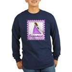 Lilac Bridesmaid Long Sleeve Dark T-Shirt